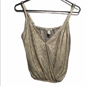 Gold Charlotte Russe Cami Size L